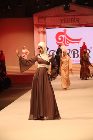 Tekbir Inc. fashion show (2011) featuring the 2012 winter collection. Tekbir is the leading veiling-fashion company of Turkey. photo by Banu Gökarıksel.