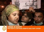 Egyptian Protesters Reject Military Concessions, Demand Officers Return to Barracks