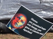 Obama slights Palestinians, who stage Tent Protests