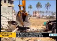 UN: A Million Palestinians will Need Food aid in Israel-blockaded Gaza Next Year