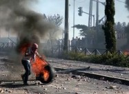 Palestinians attack Jerusalem Rail to Protest Annexation of Arab East