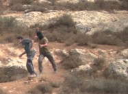 Jewish Squatter attack on Leader of Rabbis for Human Rights caught on Video