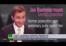 Turkey's Pres. Erdogan demands Germany prosecute comedian over satirical poem