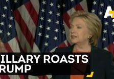 Hillary Clinton roasts Donald Trump on Foreign Policy