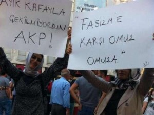 Women protesters in Taksim Square, Istanbul. photo courtesy of showdiscontent.com