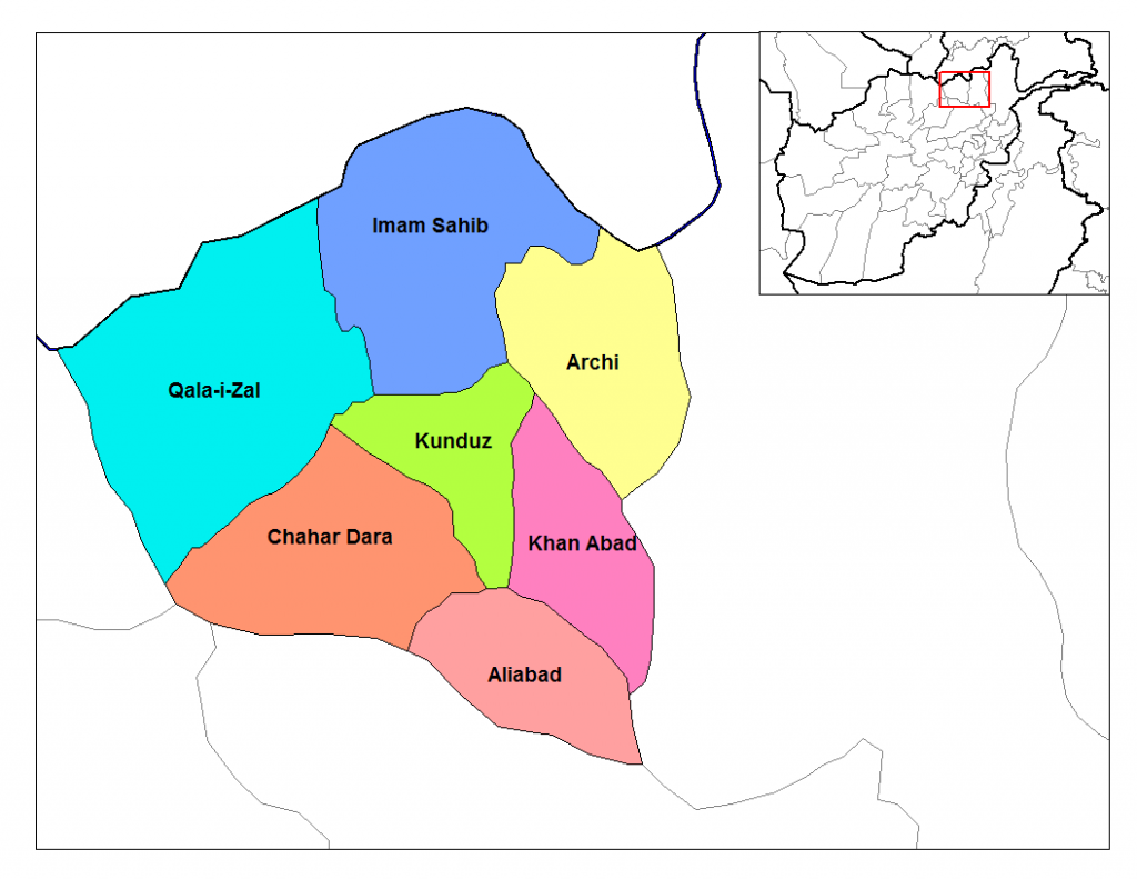 Kunduz Districts