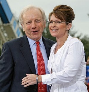 Joe Lieberman & Sarah Palin
