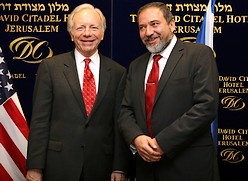 Joe Lieberman & Avigdor Lieberman