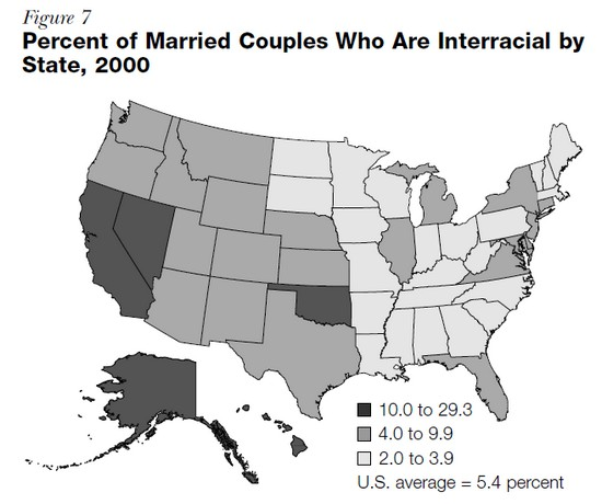 interracial marriage US 2000