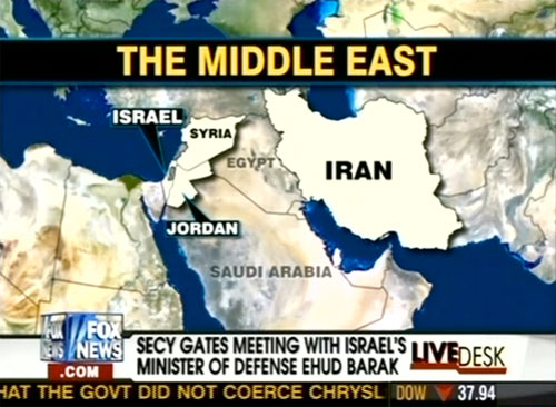 Fox Map Misplaces Egypt