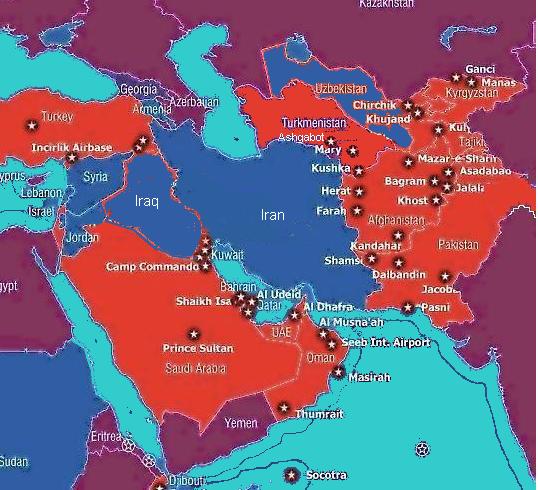 US Bases Encircle Iran