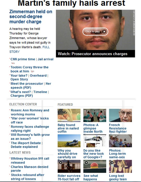 CNN HOME Page  Today