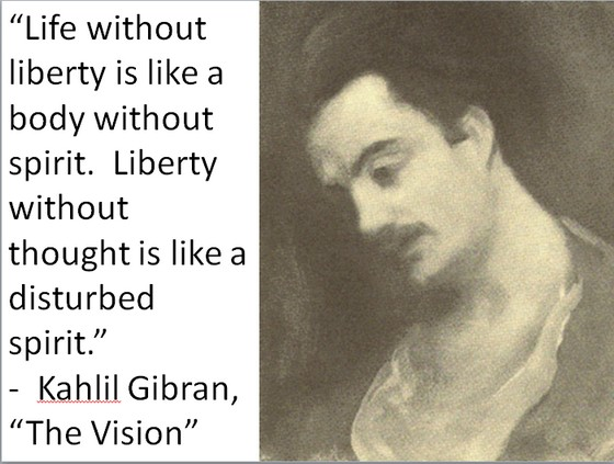 "Kahlil Gibran, ""The Vision"""