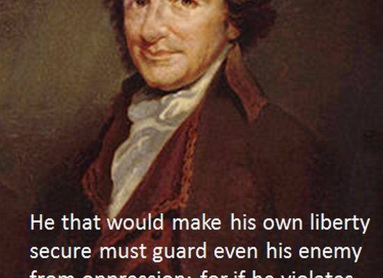 He that would make his own liberty secure… (Tom Paine Poster)