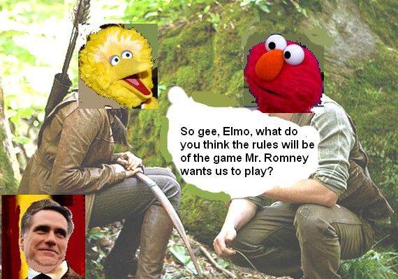 Big Bird and the Romney Games (Cartoon)