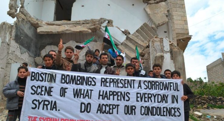 Syrian Bombing Victims send Condolences to Boston