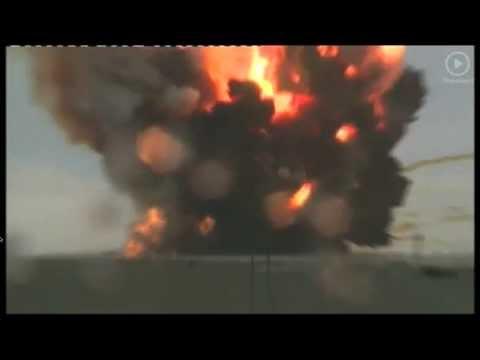 Baikonur, Kazakhstan:  Unmanned Russian rocket crashes (spectacular video)