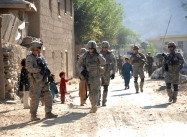 U.S., Afghan forces patrol