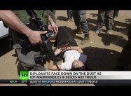 Israeli Troops attack European Diplomats on Aid Mission