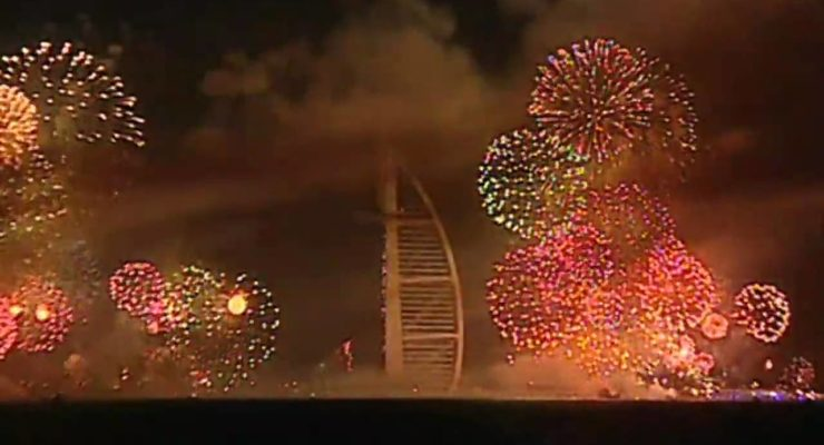 New Year Fireworks Dubai