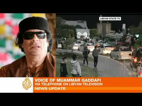 Qaddafi invokes Phony Al-Qaeda Threat as he Massacres Protesters