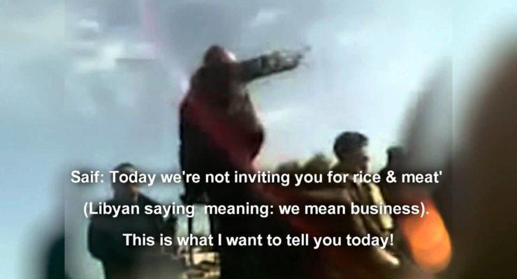 Qaddafi Son Incites Massacre of Protesters