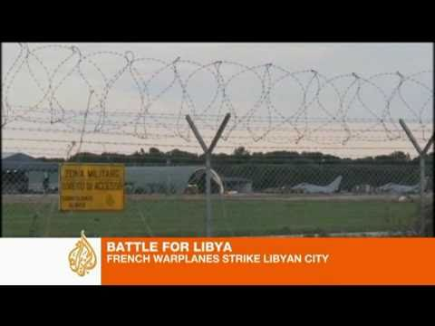 UN Allies Bombard Libya to protect Protesters