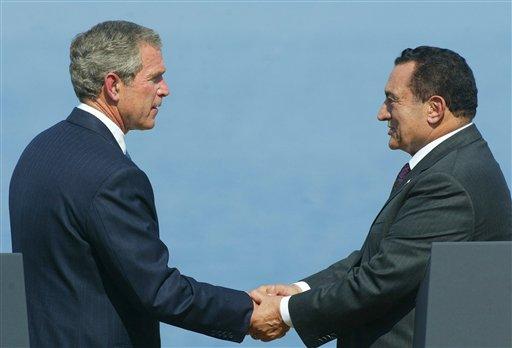 George W. Bush, Hosni Mubarak