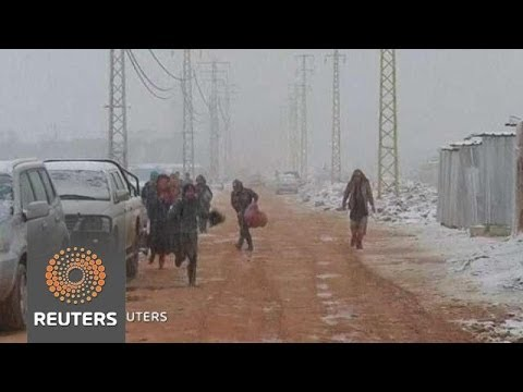 Syrian Refugees' Misery deepened by Snow Storm as Europe Shuts Doors