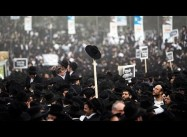 Massive Protest by Israel's Ultra-Orthodox Protest against Conscription