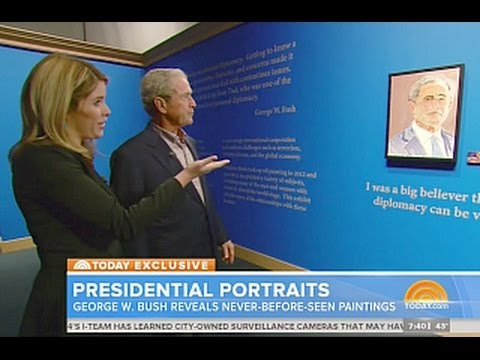 George W. Bush Used Top Google Results For All His Paintings;  Is he in Legal Trouble?
