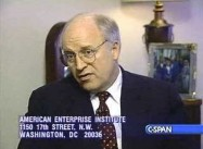 """If you take down the central gov't…you could… see… pieces of Iraq fly off""- Dick Cheney 1994"