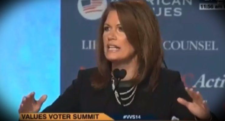 Michele Bachmann declares Christian Jihad on all Muslims
