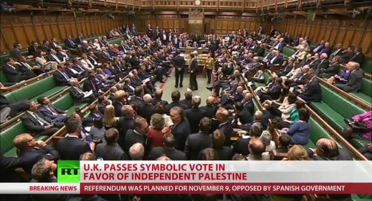 In Symbolic Vote, UK Parliament urges Recognition of Palestine