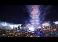 2015 New Year Fireworks: Burj Khalifa, Dubai