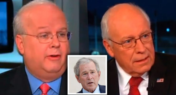 """""""President Authorized Torture Techniques"""": Cheney and Rove throw Bush under the Bus"""