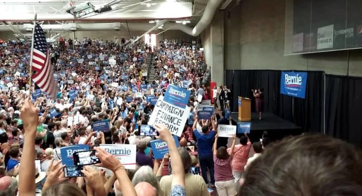 Massive turnout for Bernie Sanders in Denver: Is he Gaining on Hillary Clinton?