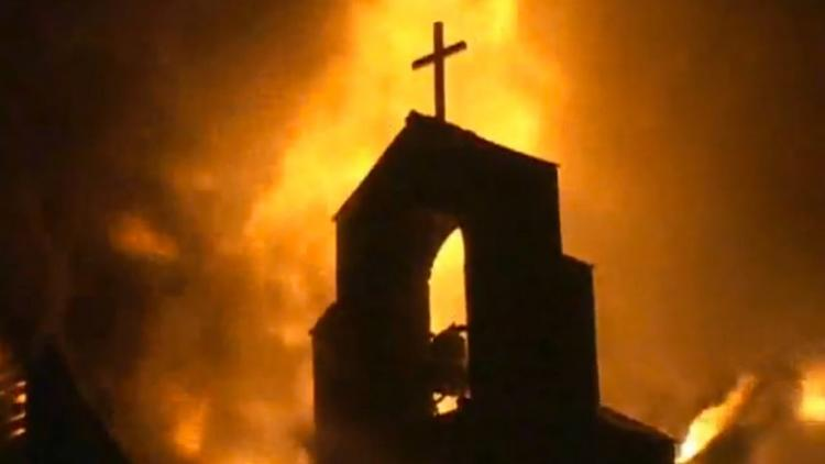 Image result for burned african church (pictures)