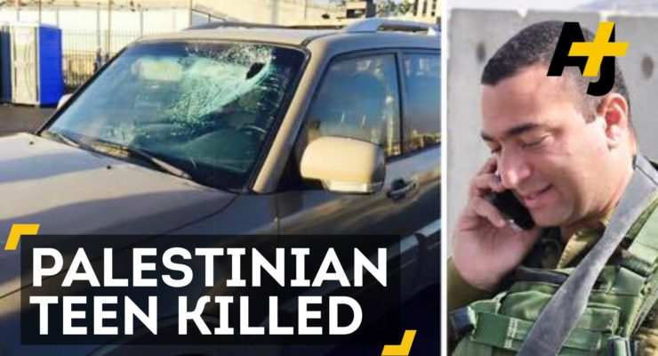Video: Israeli Officer shoots protesting Palestinian Teen, Leaves him to Bleed Out