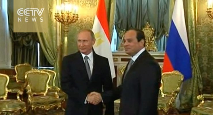 Egypt's al-Sisi and Putin Pledge Common Front against Terrorism