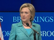 Clinton Calls For Tougher Response To Russia On Syria, Ukraine