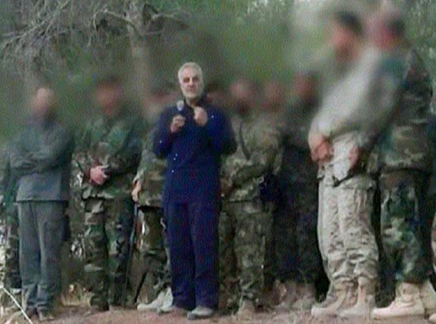قائد فيلق القدس التابع للحرس الثوري الايراني قاسم سليماني في اللاذقية- (انترنت)