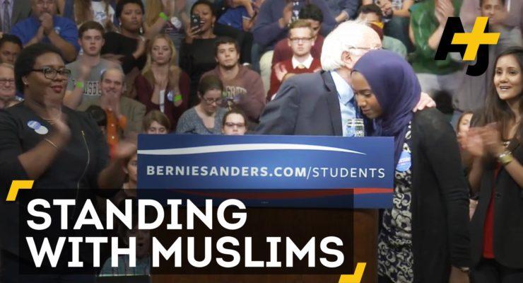 Bernie Sanders Hugs Muslim Student And Vows To Fight Racism