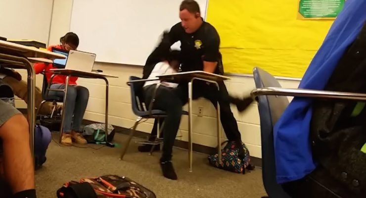 SC Cop Flips Black Student In Her Desk