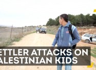 Palestinian Kids Dodge Settler Attacks Daily