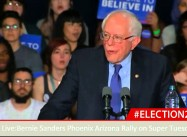 Here's the Bernie Sanders Primary Day Speech Corporate News Blacked Out