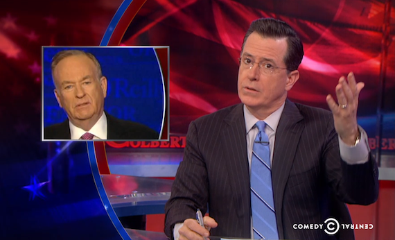 """Colbert's Send-up of O'Reilly on """"Inequality"""" makes Bill Squawk"""