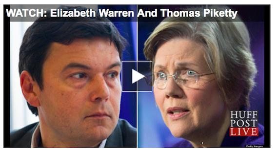 Climate Change, Economic Inequality Are One Debate, says Sen. Warren