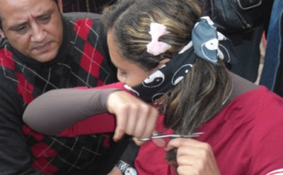 Egypt:  Women Cut their Hair in Tahrir Square to Protest Fundamentalist Constitution