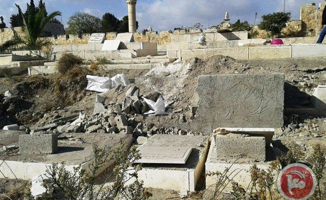 Colonizing the Dead:   Israeli authorities demolish graves in East Jerusalem cemetery